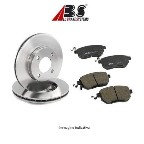 Kit 2 dischi freno anteriori + Kit 4 pastiglie freno anteriori ECP (Abs) Ecommerceparts 9145375026376