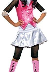 Monster High - Disfraz de Draculaura para niña, infantil 5-7 años (Rubie`s 884787-M)