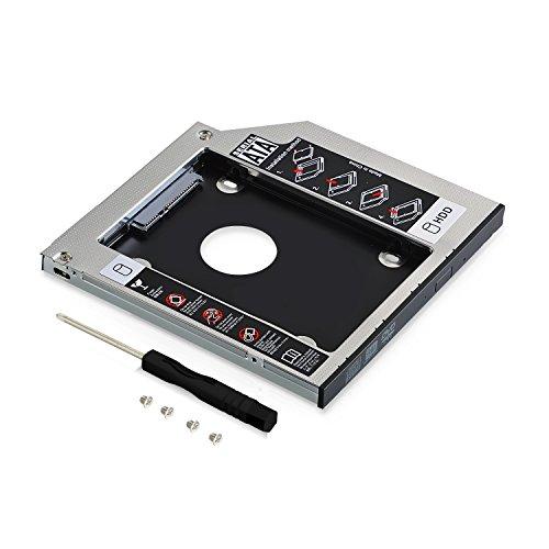 Neuftech - Adattatore SSD HDD Caddy 2,5' SATA 12.7mm SATA To SATA Drive per HP dell Acer ASUS...