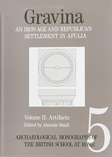 Gravina: An Iron Age and Roman Republican Settlement on Botromagno, Gravina Di Puglia, Excavations 1965-7 the Artifacts