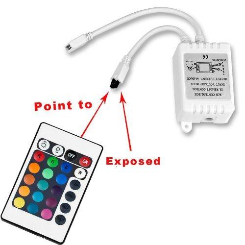 Generic 24 key Plastic IR Remote Controller for RGB 3050/3528 LED Light Strip DC 12V (White)