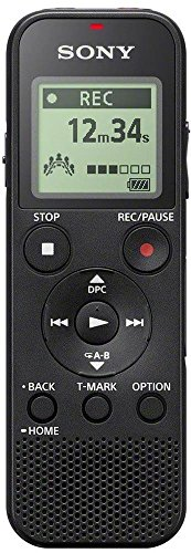 Sony ICD-PX370 Internal memory & flash card Black dictaphone - Dictaphones (159 h, MP3, 15 - 20000...