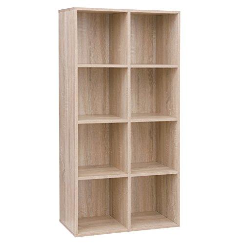 VASAGLE Libreria a 8 Cubi, Scaffale in Legno a Ripiani, Armadio Guardaroba Autoportante per Ufficio...