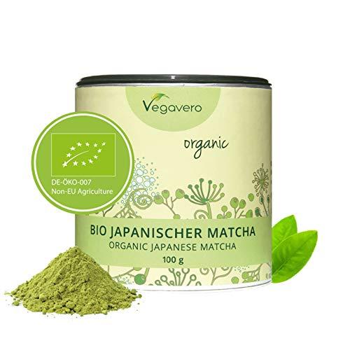Té Matcha Orgánico Vegavero ORIGINAL Japonés: de Aichi y Kagoshima   100g   L Teanina, Cafeína, Vitaminas y Antioxidantes   Energía + Bienestar + Concentración + Detox   Sin Aditivos