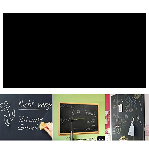 rosenice Adesivo Tabella ardesia adesivo lavagna nera (nero) -45* 200cm