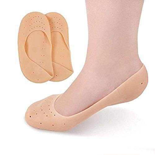 Jini Collection® Anti Crack Full Length Silicone Foot Protector Moisturizing Socks for Foot-Care and Heel Cracks