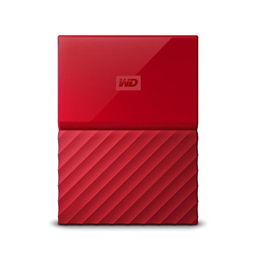 WD 2TB My Passport Hard Disk Esterno Portatile, USB 3.0, Rosso - WDBYFT0020BRD-WESN