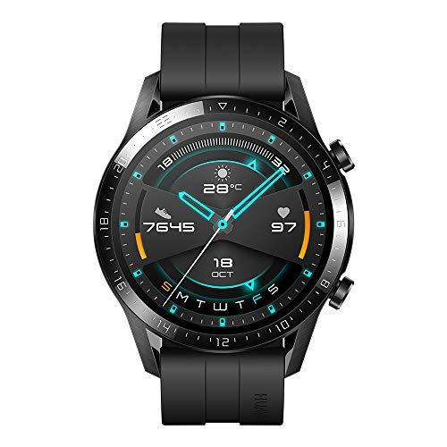 Huawei SmartWatch GT 2 (46 mm), Durata della Batteria fino a 2 Settimane, GPS, 15 Modalità di Allenamento, Display del Quadrante in Vetro 3D, Chiamata Tramite Bluetooth, Matte Black