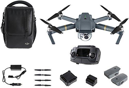 DJI - Mavic Pro Fly More Combo (Version UE) | Incl. 1 Drone Quadricoptère, 1 Batterie de Vol Intelligente, 1 Radiocommande, 1 Chargeur Voiture & Autres | Photos & Vidéos en Haute Résolution