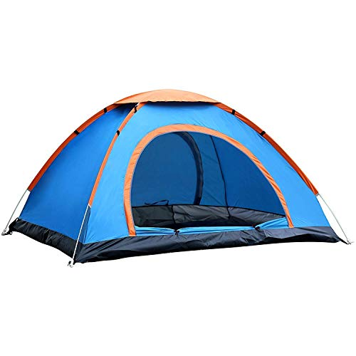RONTENO Polyester 2 Person Tent House Lightweight Material Travelling, Picnic, Waterproof - 1 Pc (Multi Color)