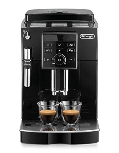 De\'Longhi ECAM 25.120.B Kaffeevollautomat | Direktwahltasten und Drehregler | Profi-Aufschäumdüse | 2-Tassen-Funktion | Kegelmahlwerk 13 Stufen | Herausnehmbare Brühgruppe | schwarz
