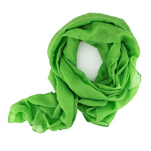 DOLCE ABBRACCIO by RiemTEX WILD CAT Damen Schal Halstuch Tuch aus kratzfreiem Mikrotouch für Frühling Sommer Ganzjährig (Hellgrün)