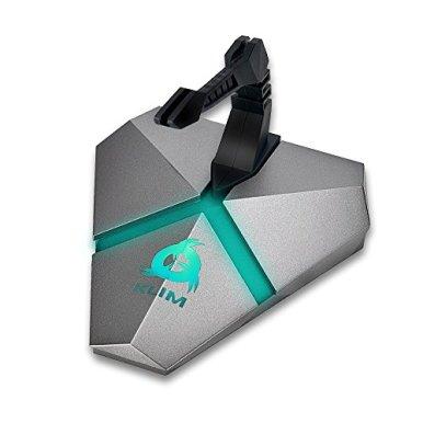 KLIM-Bungee-fr-die-PC-Maus-3x-USB-30-Hub-multifunktional-qualitativ-hochwertiges-Material-von-hinten-beleuchtet-Kabel-Organizer-5-Jahre-Garantie