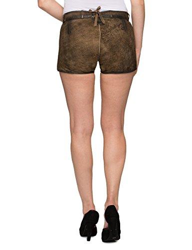 Stockerpoint Damen Trachten Lederhose Hose Rosy, Grau (Stein), 34 -