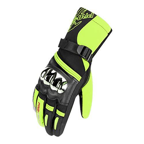 MYSdd Guanti da moto per uomo guanti da moto invernali impermeabili e antivento al 100% touch...