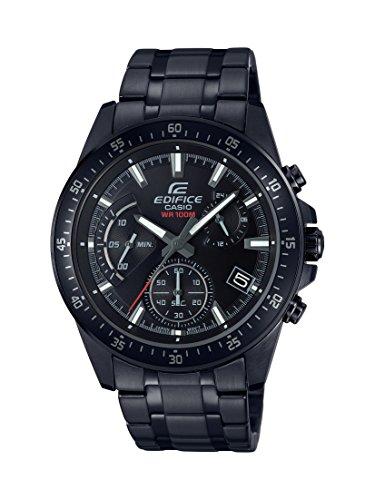 Casio Edifice Herrenarmbanduhr EFV-540DC-1AVUEF, schwarz, massives Edelstahlgehäuse und Armband, 10 BAR