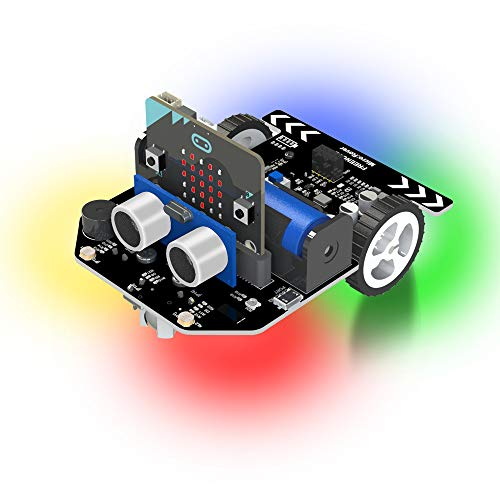 Freenove Micro:Rover Kit, Include BBC Micro:Bit with Tutorial, School Student Study Steam STEM Project microbit Robot Car