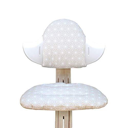 Blausberg Baby - Set cuscini per il seggiolone Nomi di Evomove - Happy Star Beige