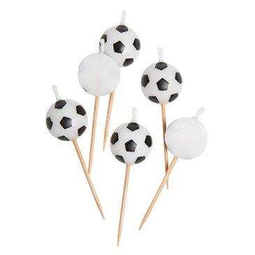 en forme de ballon de football Bougies, Lot de 6P