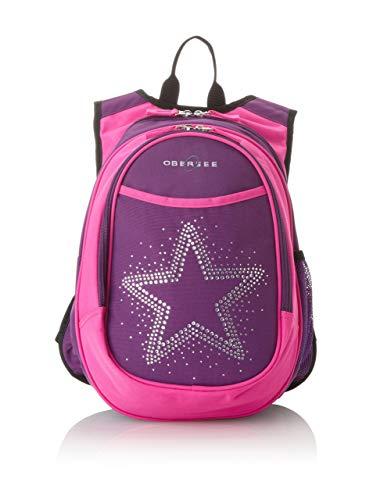 Obersee Kids - Mochila preescolar todo en uno con bolsa isotérmica, con estrella de llamativos diamantes Rhinestone