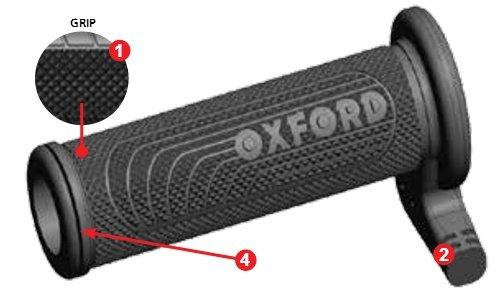 Manopole riscaldate Oxford versione Premium Sport