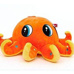 Yougou01 Juguete de Felpa, Grande Almohadilla del Amortiguador de la muñeca de la muñeca de Trapo Pulpo Octopus Creativo muñeca, Azul 80 Cm ,Siéntete Delicado y Suave ( Color : Orange , Size : 60cm )