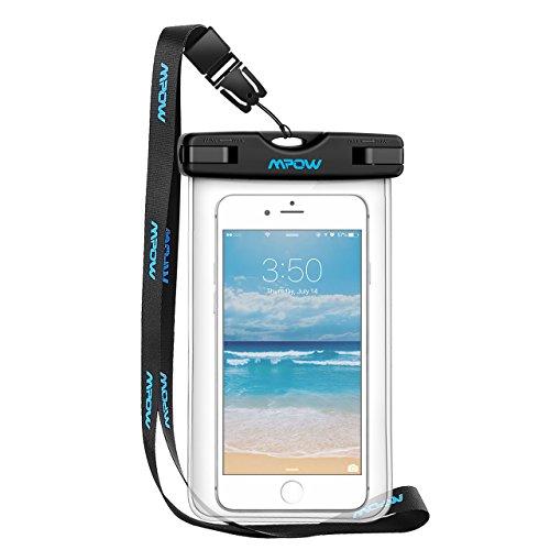 Mpow Wasserdichte Hülle Beutel Tasche, Handyhülle, Staubdichte Schützhülle für iPhone 6/6s/6sPlus/SE/5s/5/5c, Galaxy S7/S7 edge/S6/S6 edge/S5,Huawei P8 usw bis zu 6 Zoll