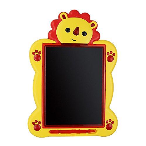 Maxbeauty Niños Escritura y Aprendizaje Doodle LCD Tablero de dibujo portátil 8,5 pulgadas Música Tablet Case escrito a mano para juguetes educativos para niños de 3 años de edad - Cute Lion