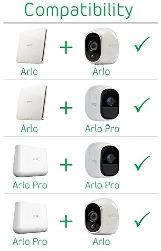 41QURo%2BPa1L [Bon Arlo !  Arlo - Smart Caméra de surveillance - Pack de 4 - Kit de Surveillance 100% sans Fil, HD, Vision Nocturne, Etanches ...
