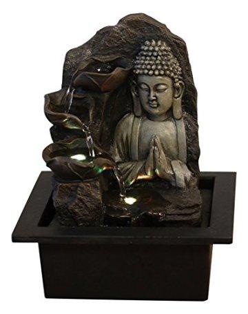Zen'Light SPIRITUALITE - Fuente de polirresina de Color marrón Oscuro, 21x 21x 26cm. 4