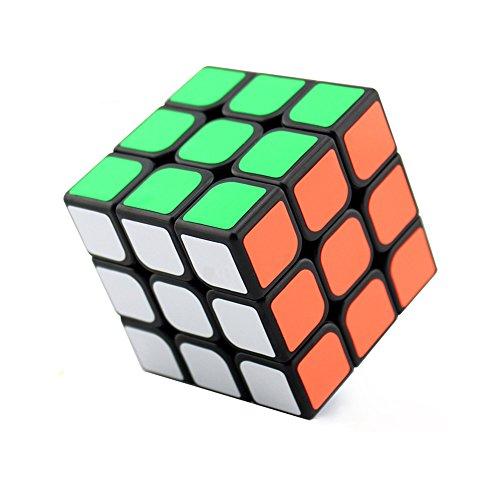 HJXDtech - 3x3x3, SuLong Girando Speed Cube Facile Per Brain Training Game (Nero)