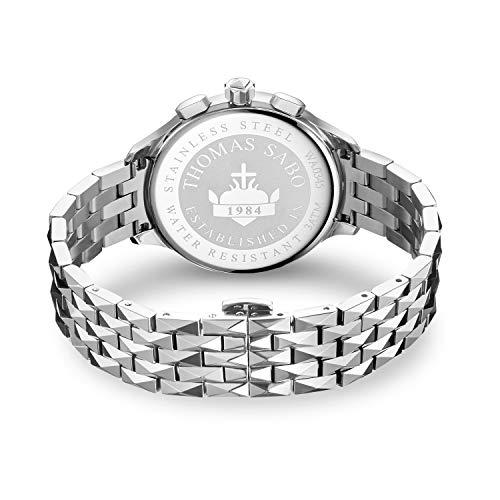 Thomas Sabo Orologio Cronografo Quarzo Donna con Cinturino in Acciaio Inox WA0345-201-201-38 mm