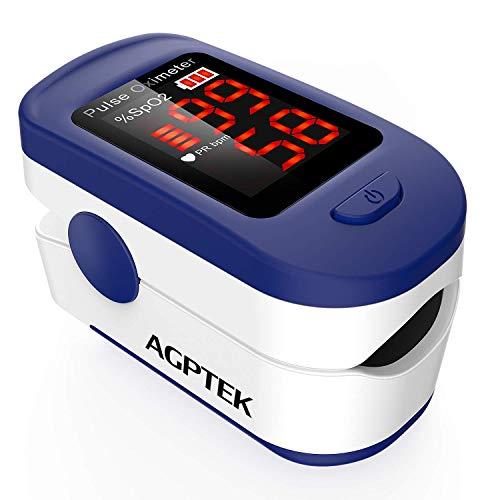 Pulsossimetro da Dito, AGPTEK Saturimetro da dito Portatile Professionale con Display OLED per...