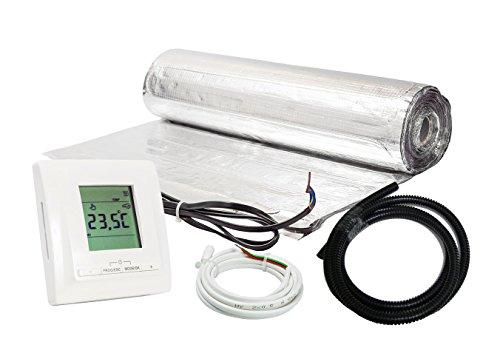 I tappetini riscaldanti-set per laminato o parquet AZ-150 in alluminio riscaldamento stuoiasopra...