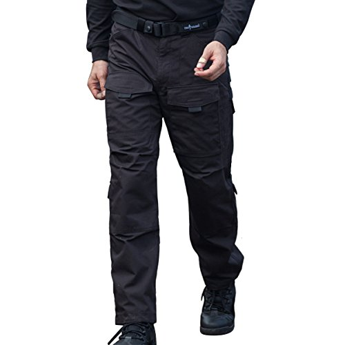 FREE SOLDIER Hombres Tactical Pants Resistente a los arañazos Four Seasons Pantalones de Escalada de múltiples Bolsillos Color Negro, tamaño Medium