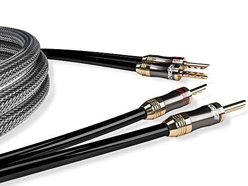 Ricable L3 Ultimate Speaker 2 x 3 mt Cavo di Potenza Hi-Fi OFC per Diffusori Acustici