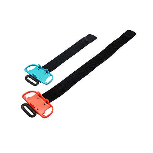 Feicuan Cinturino da Polso per Just Dance 2020 2019 2018 e Ring Fit Adventure Leg Fixing Band, Adjustable Elastic Wrist Strap Leg Strap per Nintendo Switch JoyCon
