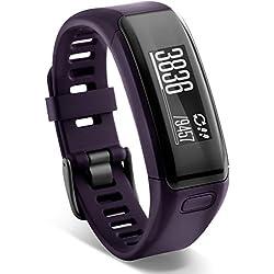 Garmin vívosmart HR Fitness-Tracker - integrierte Herzfrequenzmessung am Handgelenk, Smart Notifications, Purple, M - L (13,7-18,8 cm)