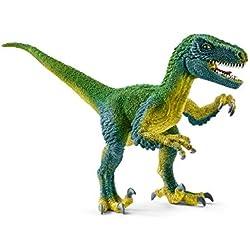 Schleich- Figura dinosaurio Velocirráptor, Color verde, 10,3cm
