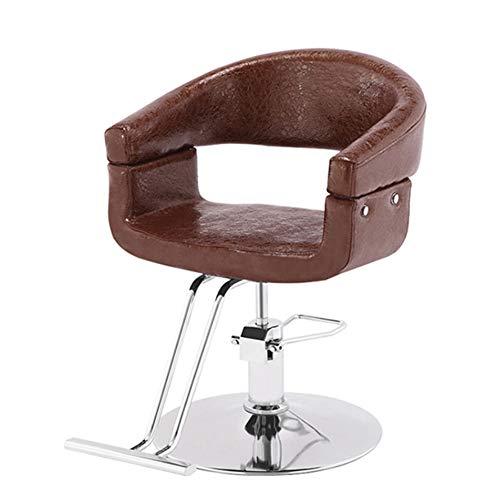 Poltrona Da Barbiere Idraulica - Recline Salon Beauty Haircut Hair Styling Styling Equipment, Swivel 360 Grad, for Spa Shaving Tattoo,Brown