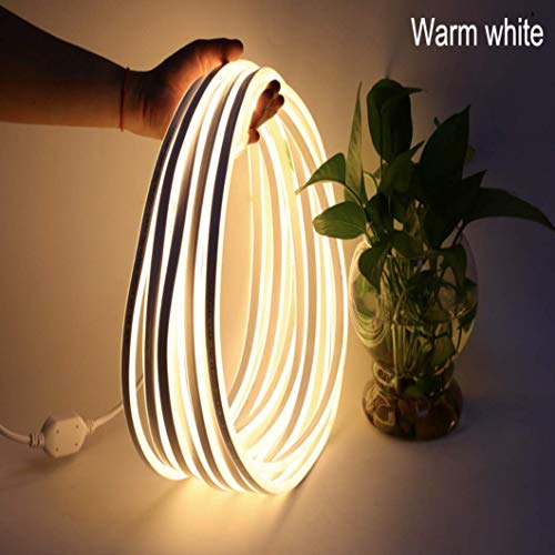 PESCA Led Mini Neon Lights, Rope Lights, 8MM Thickness, Update 2835 120Led/M, 220V, Included All Necessary Accessories, Flex Durable Super Bright for Outdoor Indoor Decoration (Warm White)