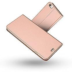 Kaufen iPhone 6S Hülle,iPhone 6 Hülle,Radoo® Premium PU Leder Handyhülle [Ultra Slim][Kabelloses Aufladen Unterstützung] Brieftasche-stil Magnetisch Folio Flip Klapphülle [Transparenter TPU Stoßfänger] Etui Brieftasche Hülle [Karte Halterung] Schutzhülle Tasche Case Cover für Apple iPhone 6 / iPhone 6S 4.7 Zoll (Rose gold)