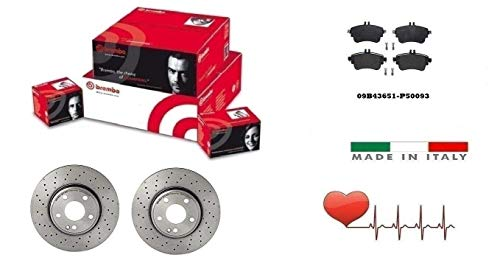 Dischi + Pastiglie Freno Anteriori Brembo Classe B 180 CDI + Sport pack