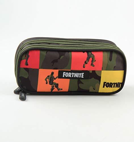Fortnite - Astuccio XL'Square', con 2 scomparti, 20 x 8,5 x 6 cm, colorato