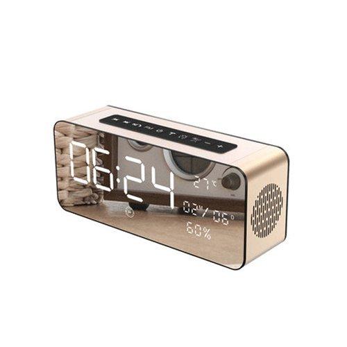 Vinteen Ménage Réveil Bluetooth Haut-Parleur Multifonction Téléphone portable Insérer Carte Sans Fil Poids Basse Pistolet Mini Petit Son Hau... 22