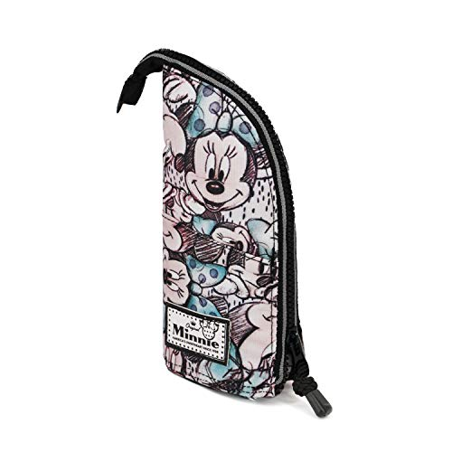 KARACTERMANIA Disney Classic Minnie Drawing-Vertikal Federmäppchen Astuccio, Grigio, poliestere