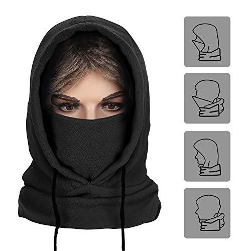 A-Forest Funktions Sturmhaube Gesichtshaube Balaclava Kältemaske Skimaske Hut Schwarz Gesichtmaske M (Schwarz)