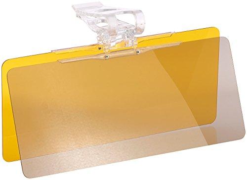 Lescars Sonnen Blendschutz Auto: Tag- & Nacht-Blendschutz für die Auto-Sonnenblende, 30 x 13 cm (Blendschutz Auto Frontscheibe)