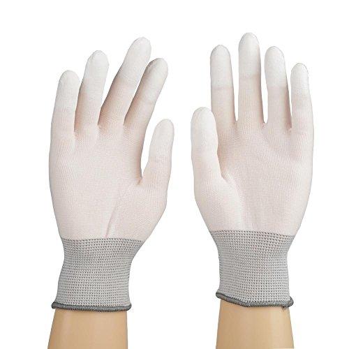 Antistatico guanti da lavoro di sicurezza rivestimento grip proteggere in nylon PU S M L 12paia