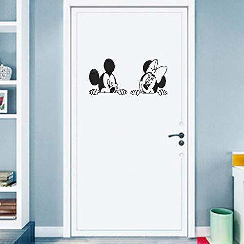 Adesivi Per Porte Per Camera Da Letto Carini 25 * 25 Cm Cartoon Micky Minnie Mouse Nursery Cameretta Per Bambini Anime Mouse Camera Da Letto Divano Soggiorno Decorazioni Per La Casa